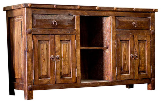"Rustic Bathroom Double Vanity reclaimed double-sink vanity, 60"" - rustic - bathroom vanities and"