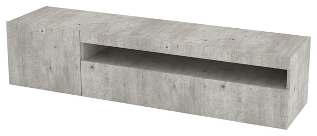 Daiquiri Modern TV Stand, Grey