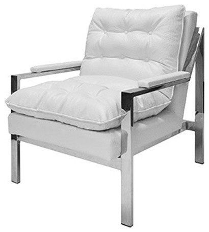 Awesome Worlds Away Armchair White Ostrich Cameron Nickel Creativecarmelina Interior Chair Design Creativecarmelinacom