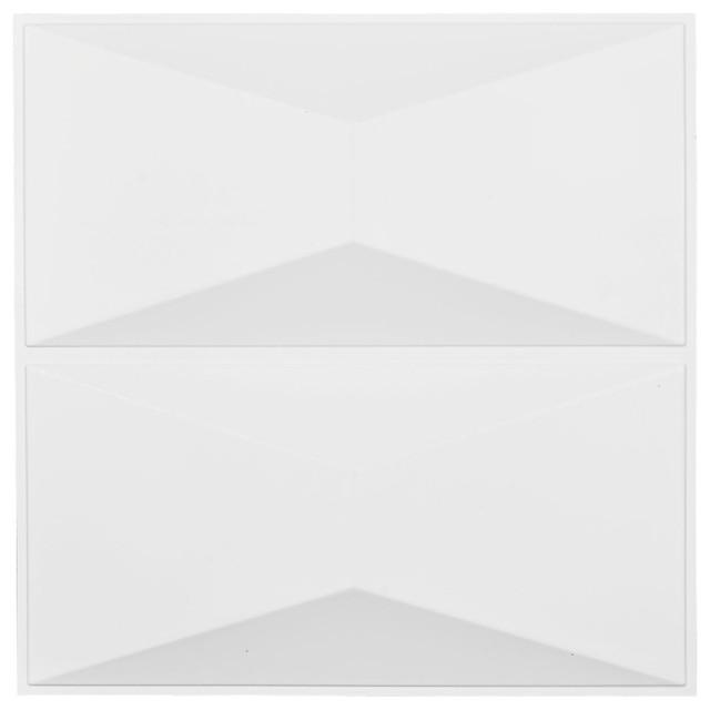 """Aberdeen Endurawall Decorative 3d Wall Panel, White, 19 5/8""""x19 5/8""""."""