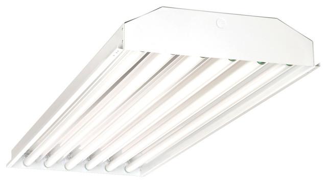 Nicor 4 Ft. T5 High Output Fluorescent 6-Lamp High Bay.