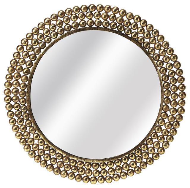 Butler Tiny Bubbles Antique Gold Mirror