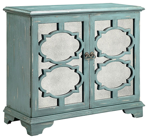 Birmingham MDF Mirror Cabinet, Antique Mirror Antique Blue With Gray, 16