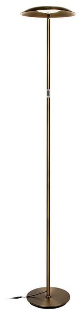 Brightech Sky Downlight Modern LED Floor Lamp, brass