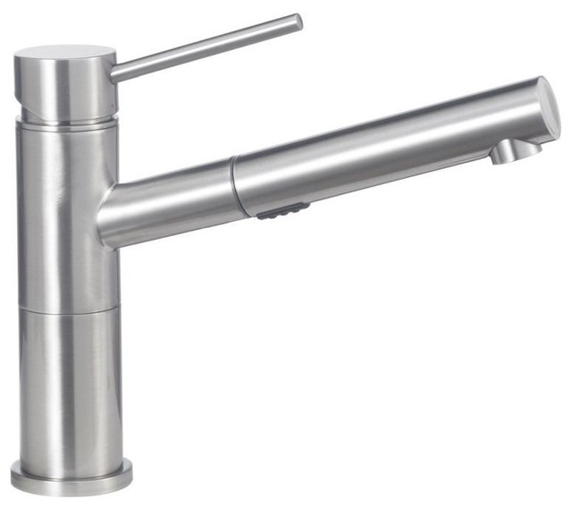 Blanco 441492 Alta 1-Handle 1.8 gpm Pull-Out Kitchen Faucet, Satin Nickel