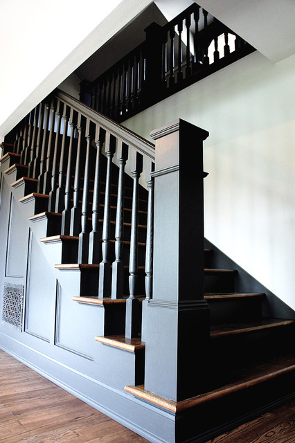 Bold European Design Traditional Staircase Portland