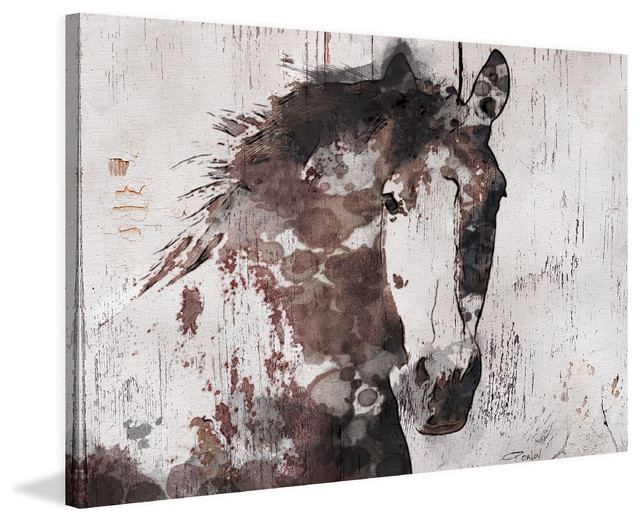 Majestic Mustang Painting Print On Wrapped Canvas, 60x40.