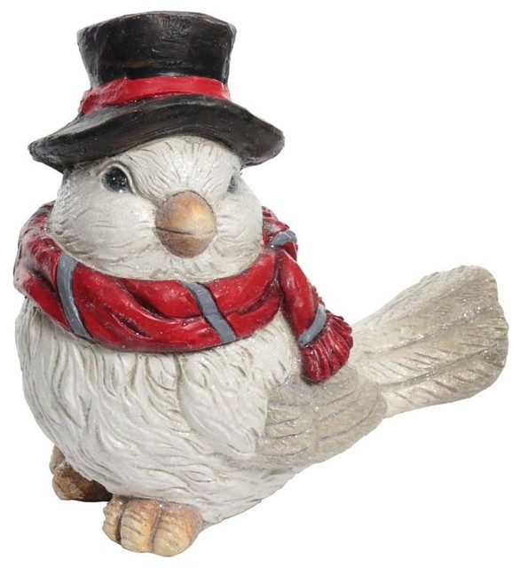 Christmas Dove Statue With Hat