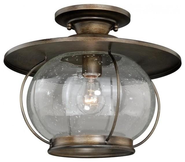 semi flush mount parisian bronze rustic flush mount ceiling lighting. Black Bedroom Furniture Sets. Home Design Ideas