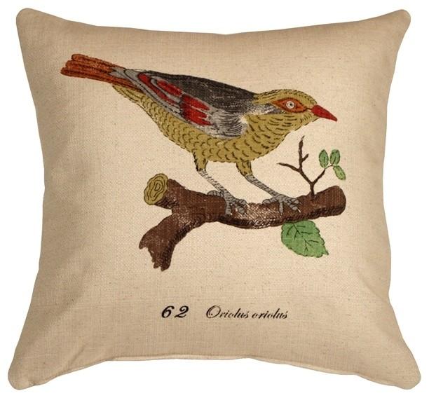 Pillow Decor Bird On Branch 40 X 40 Throw Pillow Contemporary Adorable Pillow Decor Ltd