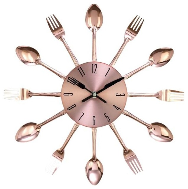 Gwg Outlet Metal Copper Wall Clock 15
