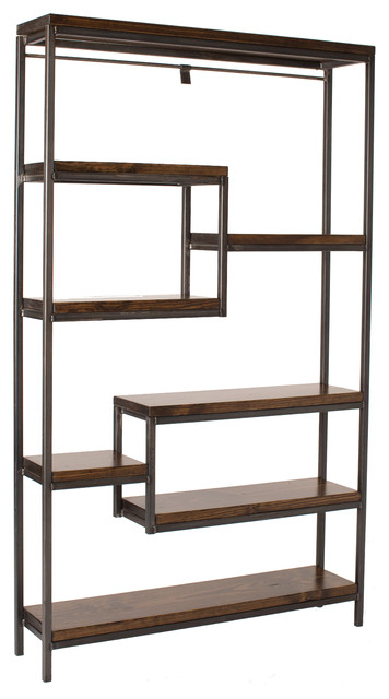 Steel and Wood Bookshelf - Industrial - Bookcases - by James and ...