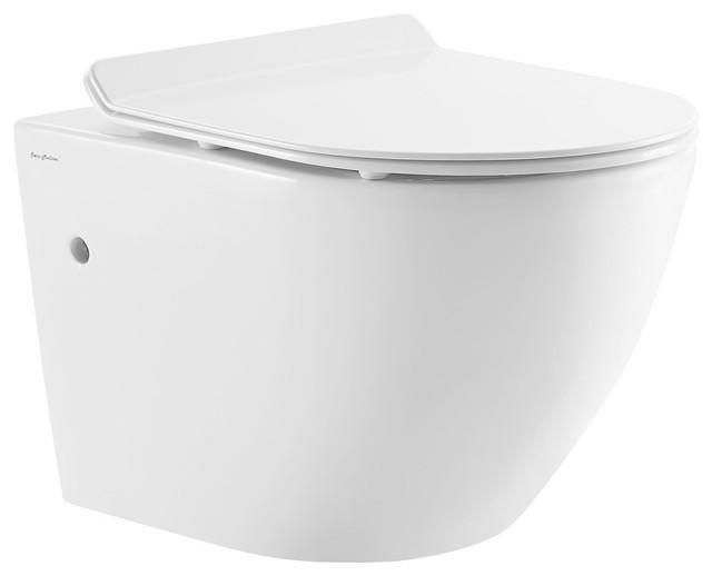 St Tropez Wall Hung Toilet Bowl White