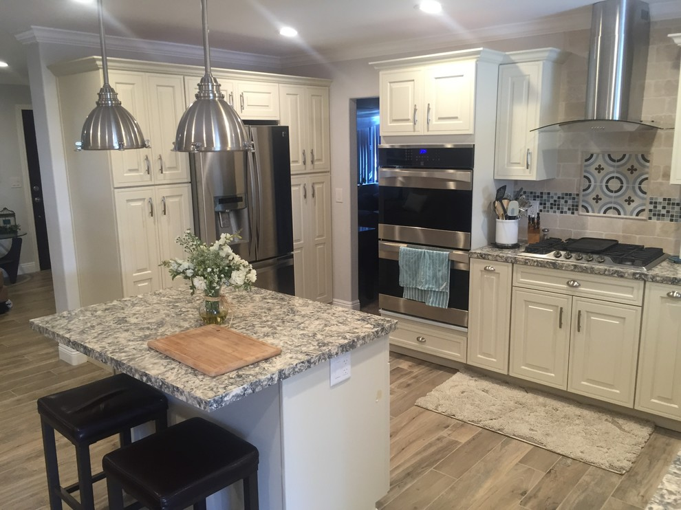 Example of a transitional kitchen design in San Diego