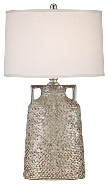 Naxos 1 Light Table Lamp In Charring Cream Glaze