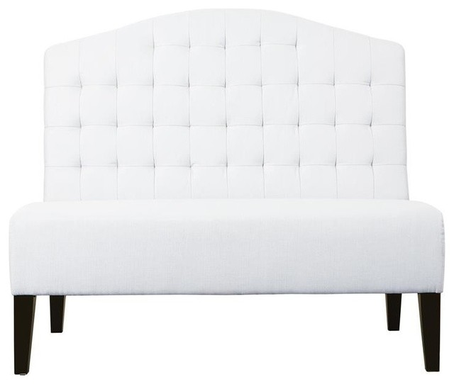 Banquette Bench, Tuxedo Ivory.