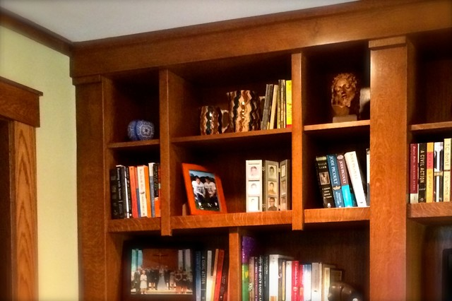 Craftsman library craftsman chicago di roberts for Passarelli custom homes