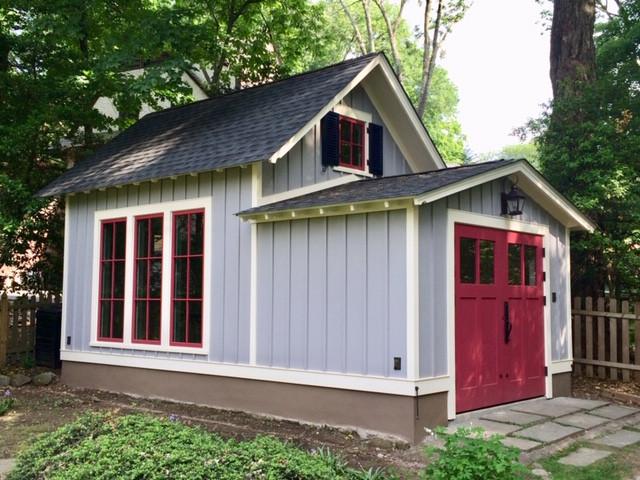 Renovation of garage to garden play room