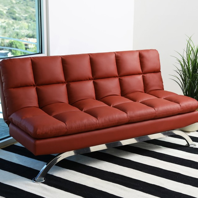 Abbyson Living Graham Bonded Leather Euro Lounger Sofa ...