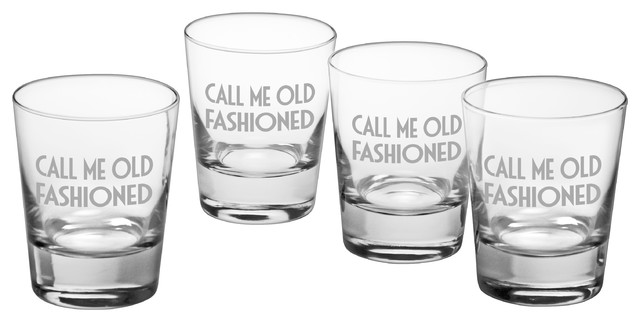 Call Me Old Fashioned Double Old Fashioned Glasses Set Of 4