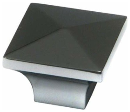 Richelieu Hardware - Richelieu Contemporary Metal Square Knob 32mm Matte Black - View in Your ...