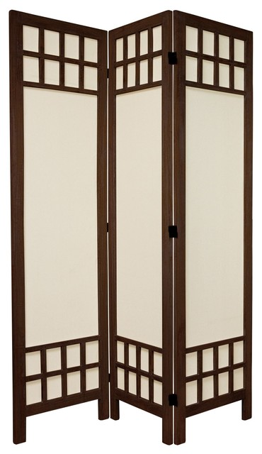 5 1 2 Tall Window Pane Fabric Room Divider Asian Screens And Dividers By Oriental Furniture
