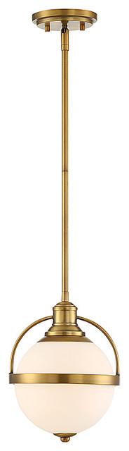 Westbourne 1-Light Pendant, Warm Brass.