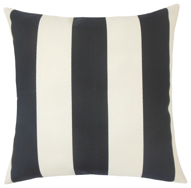 Kanha Striped Floor Pillow Grey Floor Pillows And Poufs By The Pillow Collection