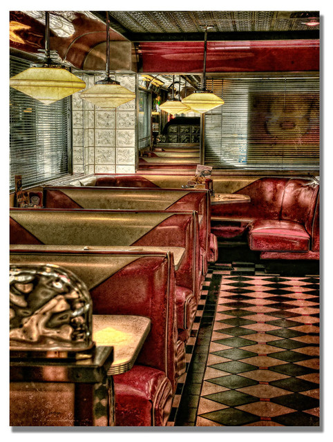 &x27;the Diner&x27; Canvas Art By Lois Bryan.
