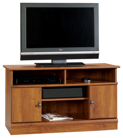 Sauder Harvest Mill Panel TV Stand Abbey Oak - Contemporary - Entertainment Centers And Tv ...