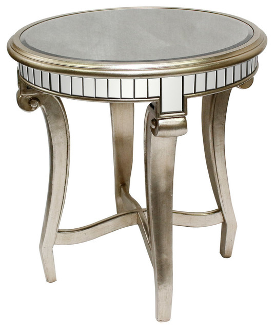 Legend Champagne Finish With Glass Top Living Room Table