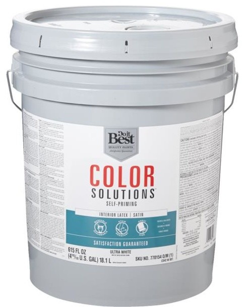 Shop Houzz Do It Best Do It Best Color Solutions Latex Self Priming Satin Interior Wall Paint