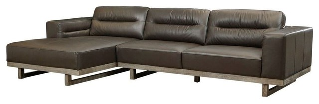 Awesome Lazzaro Leather Cooper Sofa Sectional Java Gamerscity Chair Design For Home Gamerscityorg