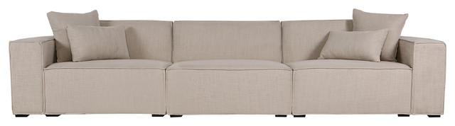 Kardiel Modus Modern Modular 3-Piece Sofa, Urban Hemp.