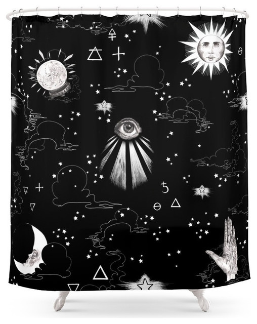Spiritual alchemy shower curtain contemporary shower for Spiritual shower
