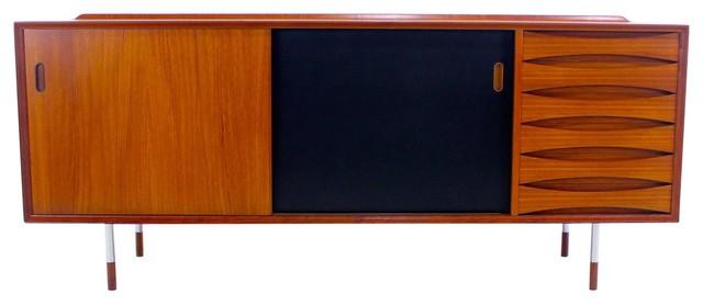 Danish Modern Triennale Teak Credenza - Midcentury - Filing Cabinets - by EcoFirstArt