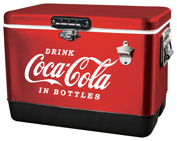 koolatron koolatron coca cola classic red stainless steel ice chest view in your room houzz. Black Bedroom Furniture Sets. Home Design Ideas