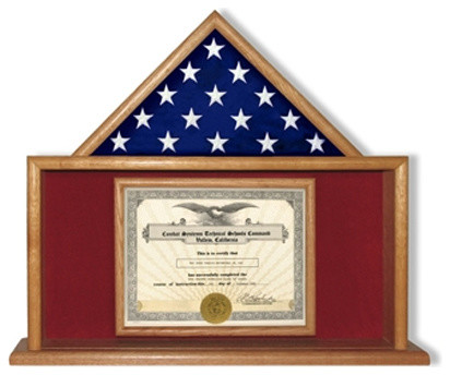 USMC Flag Certificate Display Case - Traditional - Picture Frames ...