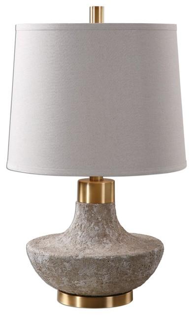 Uttermost Volongo Stone Ivory Lamp.