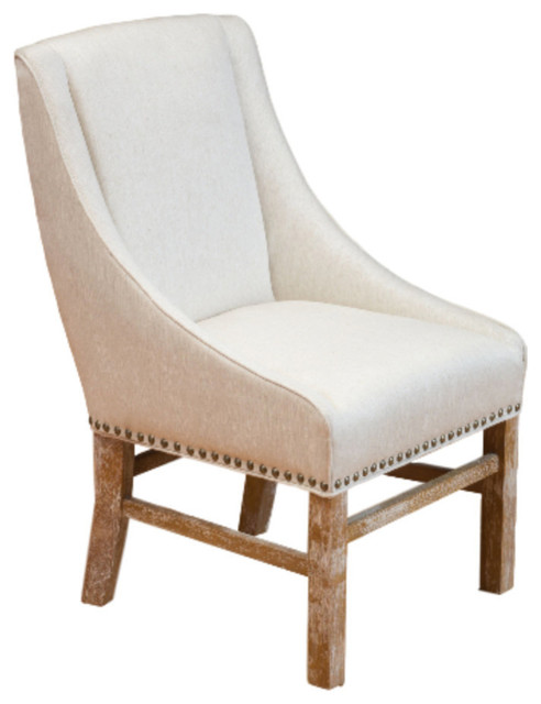 GDF Studio Claudia Fabric Dining Chair, Beige by GDFStudio