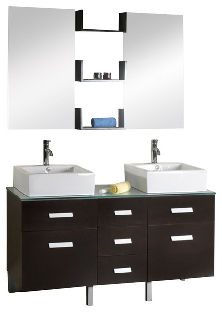 56 double sink bathroom vanity 56 inch modern sink bathroom vanity modern 21853