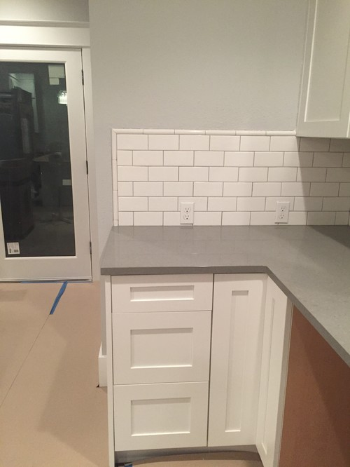 Kitchen Backsplash End Of Counter where to end counter and backsplash?