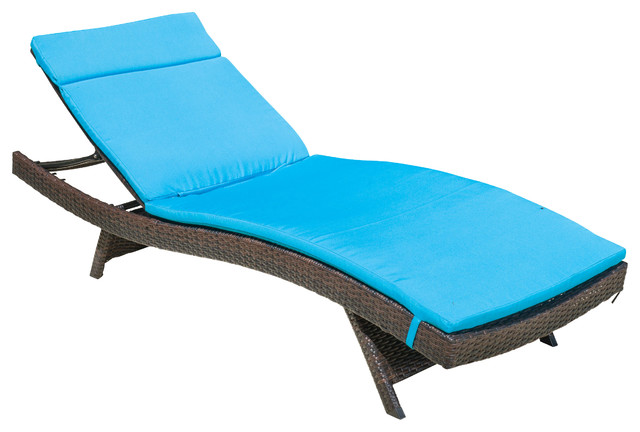 Gdfstudio lakeport outdoor adjustable chaise lounge for Blue chaise lounge