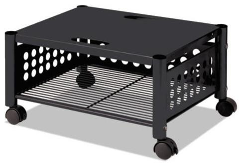 "Underdesk Machine Stand, 1-Shelf, 21 1/2""x17 7/8""x11 1/2"", Black."