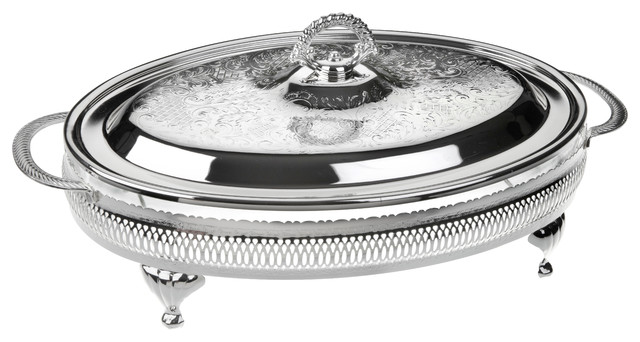 York Casserole Silver-Plated Dish With Lid.