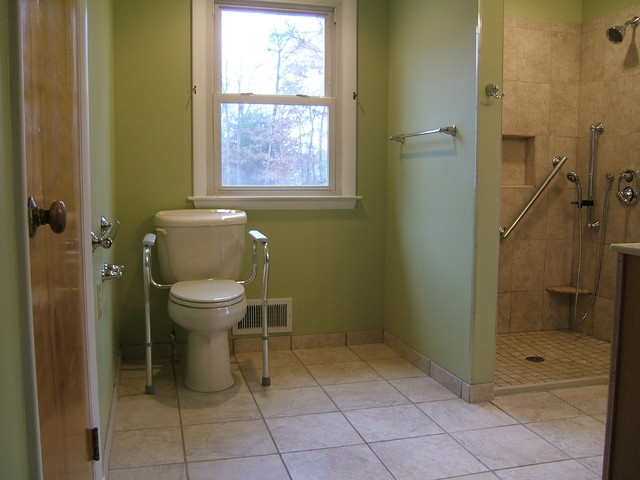 Good Handicap Accessible Bathroom Waldorf Traditional