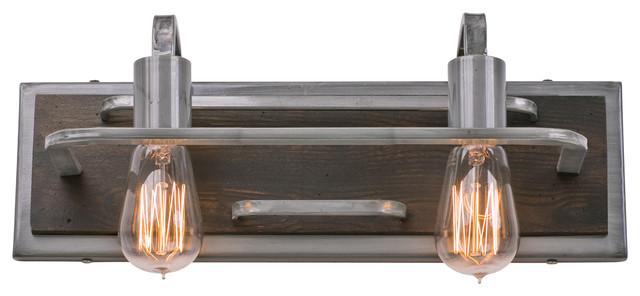 Lofty 2-Light Vanity Light, Steel