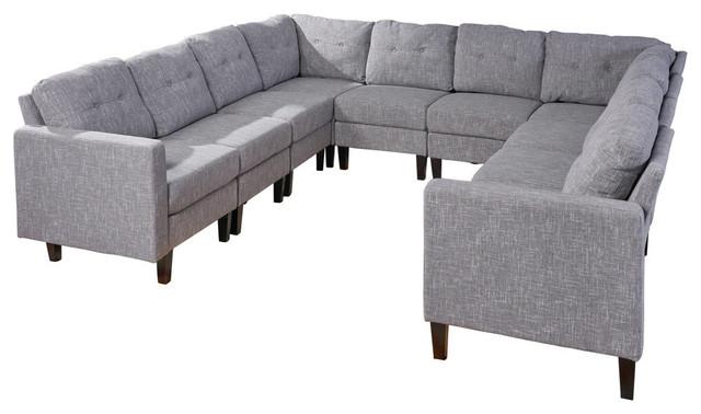 U Shaped Sectional Sofa Set