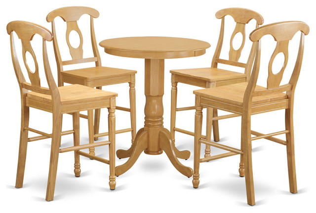 Astonishing Caroline Counter Height Dining Table Set 5 Pieces Oak Squirreltailoven Fun Painted Chair Ideas Images Squirreltailovenorg