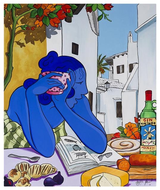"""""""Breakfast in Menorca"""" Art Print, 50x60 cm"""